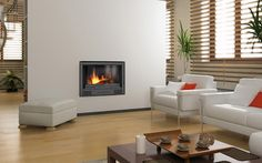 Anywhere Fireplace - SoHo 28 in. Wall-Mount Vent-Free Ethanol Fireplace in Stainless Steel Finish - Adds style and distinction to your living space. 100 percent clean burning, safe for indoor use. Bioethanol Fireplace, Modern Fireplace, Living Room With Fireplace, Cozy Living Rooms, Gas Fireplaces, Fireplace Outdoor, Fireplace Design, Fireplace Gallery, Floating Fireplace