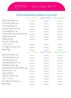 p90x workout log sheets