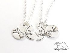 Friendship Coin Necklace 2 Best Friends Necklaces by koolstuff2