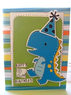 Cricut Dino Birthday Card. Create a Critter Cartridge.   *