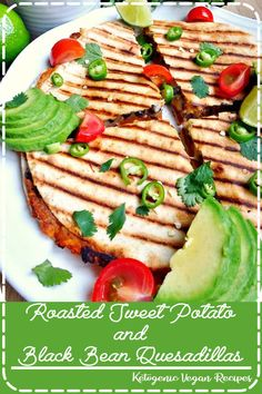 Roasted Sweet Potato and Black Bean Quesadillas are the best vegetarian quesadillas you'll ever taste. So easy to make and most importantly incredibly delicious and filling! Healthy Chicken Recipes, Gourmet Recipes, Vegetarian Recipes, Dinner Recipes, Dessert Recipes, Easy Recipes, Snacks Recipes, Salad Recipes, Keto Recipes