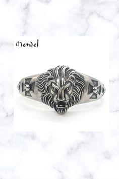 8 Inch Stainless Steel Motorcycle Biker Lion Bangle Bracelet Bracelets For Men, Bangle Bracelets, Bangles, Fantasy Jewelry, Biker, Rings For Men, Skull, Handmade Items, Stainless Steel