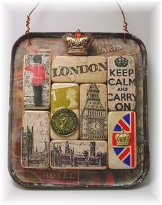 What fun playing with domino game pieces and the new stamps from Artistic Outpost . London Underground and Loverly London Who says you need ...