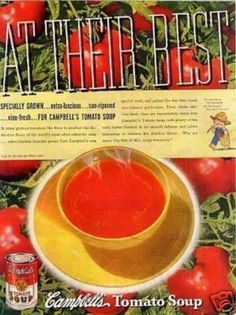 """Campbell's Tomato Soup Ad """"At Their Best... (1937)"""