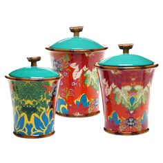 Tracy Porter for Poetic Wanderlust 'Magpie' Multicolored Canisters