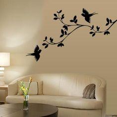 Birds Wall Art pop-up white birds wall stickers 12 big 3-d decals room decor peel
