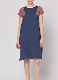 Tri Dress - Navy – Built by Wendy