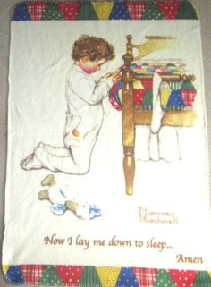 Norman-Rockwell-Fleece-Blanket-Now-I-Lay-Me-Down-To-Sleep-Boys-Town-48-034-x-33-034