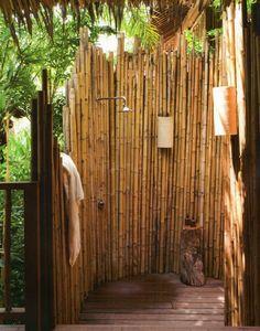 cloison en bambou rustique
