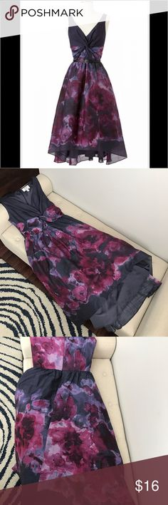 LELA ROSE/Neiman Marcus for target floral dress. Beautiful high low water color dress with tulle and pockets. Size 10 but fits more like a 8.  Like new condition, perfect for spring! It's original retail was $99.99.                                            -Missing belt                                                                                        -Belt noted on last picture is not included.  No trades!!! Dresses High Low