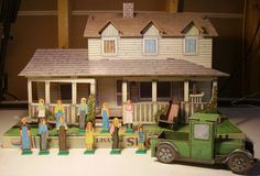 AMSCO Waltons Playset Doll House Dollhouse. My dad modeled the dollhouse he built for me from this.
