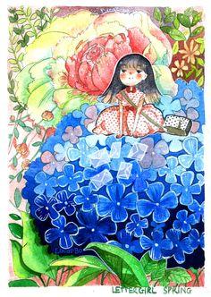 Letter girl [Spring] by Lucas-Bo.deviantart.com on @deviantART