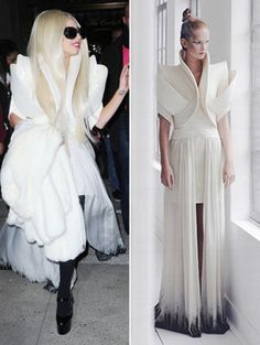 Lady Gaga gespot in couture Ilja Visser