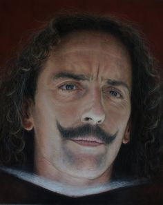 Rubén Belloso Adorna of Seville, Spain creates enormous portraits that are so detailed, you would not believe they are not photographs, but they are actually drawings made with chalk pastels.