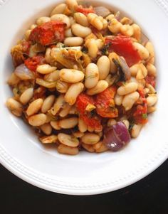 Warm Cannellini Bean Salad with Roasted Tomato and Fennel Recipe