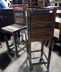 Rustic Barstool - $128 (NADEAU-Furniture With A Soul)