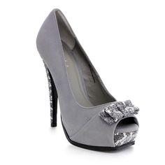 MIXX SHUZ STEFY-01 Women's Peep Toe Sequin Platform Stiletto Heel Dress Pumps