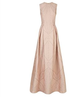 Sleeveless brocade gown, £4,500, Elie Saab atHarrods