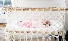Macramé Hanging bassinet boho style The Installation Of Garden Ponds & When To Call A Professional A Hanging Bassinet, Hanging Crib, Wattle And Daub, Wedding Flower Guide, Baby Bassinet, Nursery Inspiration, Baby Furniture, Boho Style, Just In Case
