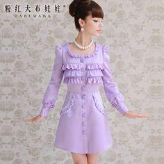 Lavender Dress with Ruffles Hi Fashion, Kawaii Fashion, Lolita Fashion, Fashion Outfits, Fashion Design, Little Dresses, Cute Dresses, Vintage Dresses, Girls Dresses