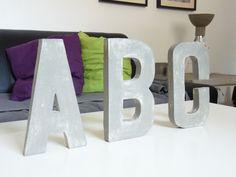 Das ABC aus Beton, Buchstaben