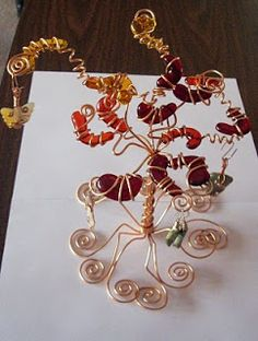 How to Make Twisted Wire Tree Sculpture Tutorials ~ The Beading ...