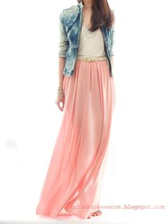 I need to figure out how to do the maxi skirt look this spring!