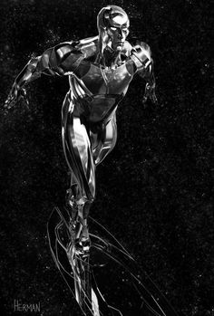 Stunning SILVER SURFER Fan Art by Josh Herman