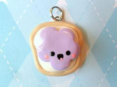 cute peanut butter jelly time toast