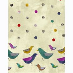 Collage Fabric by Windham Bird Border Print от AllegroFabrics, $10.00