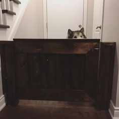 Baby or fur baby gate by Baby Gates, Fur Babies, Woodworking, Storage, Furniture, Home Decor, Woodwork, Homemade Home Decor, Larger