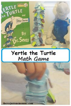 Yertle the Turtle book activity -- simple math game for Dr. Seuss book Yertle the Turtle