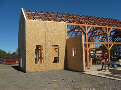 Lamit Structural insulated panels (SIPs) on a new timber frame