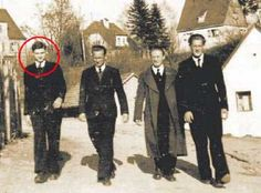 """Joseph Ratzinger As a seminarian in Trautstein. From a ZDF documentary """"The Young Ratzinger""""."""