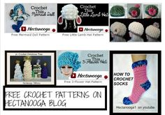 FREE CROCHET PATTERNS on HECTANOOGA blog: http://shop.hectanooga.com/