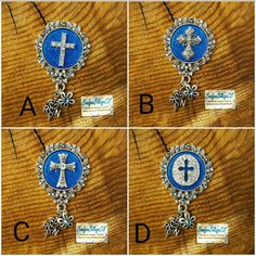 Christianity id badge reel. Catholic id badge reel. Faith nurse id. Check out this item in my Etsy shop https://www.etsy.com/listing/478470076/cross-id-badge-cover-with-diamond