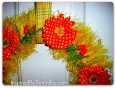 twist on the spring wreath
