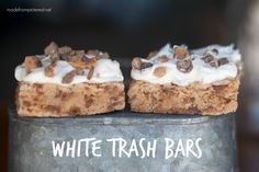 White Trash Bars. Chocolate and Toffee Bits