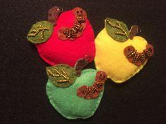 Felt Apple ornaments