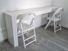 Double it! Malm console becomes a 10 person dining table.