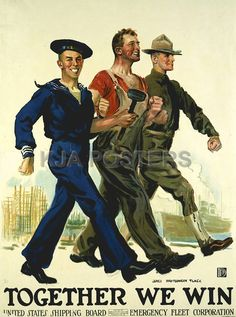 """James Montgomery Flagg - """"Together We  Win"""" poster"""