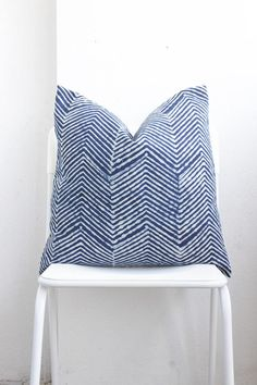 A unique pillow case made from fabric indigo (mor hom) Natural Dyed batik HMONG Textile ethnic.   +Made Of Tradition Ethnic Hmong Textile & Hmong Natural Dyed+ +Unique tribal Tradition design+ + Hmong technic natural Dyed of Hmong design + + Eco friendly +  Show in pic 20 x 20 *Dry clean only.