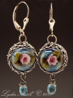 Lydia Muell Lampwork Earrings