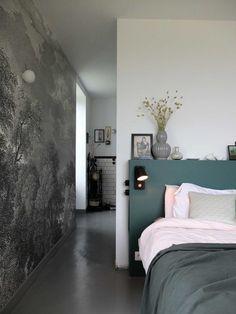 Notre tête de lit multifonctions pour 50 euros* – Misc Webzine Bedroom Inspo, Bedroom Ideas, Basement Bedrooms, Bed Frame, Sweet Home, New Homes, Interior Design, Architecture, House