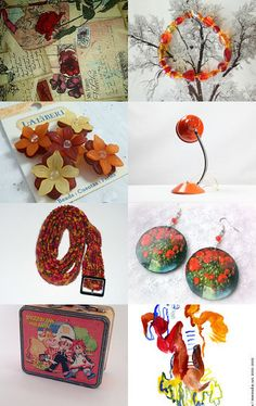 Orange and Red by Donna Harding on Etsy--Pinned with TreasuryPin.com
