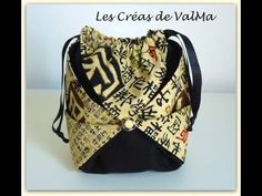 Tuto Couture Pochon / Sac Chinois / Origami / Sewing
