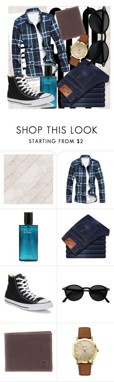 """""""Classy♡"""" by terminally-pretty-hippy ❤ liked on Polyvore featuring Converse, Timberland, Bulova, men's fashion and menswear"""