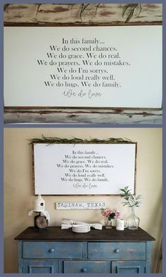 This wood farmhouse sign is so gorgeous. In this house, Farmhouse Sign, Farmhouse Decor, Framed Sign, Wood Sign, Rustic Decor, Rustic Sign, Farmhouse Decor Sign #ad