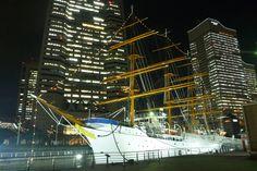 夜の日本丸 みなとみらい 夜景 横浜 イルミネーション クリスマス 期間限定