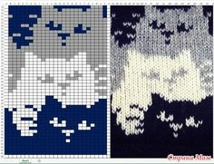 22 ideas crochet cat blanket cross stitch for 2019 Fair Isle Knitting Patterns, Knitting Charts, Knitting Stitches, Baby Knitting, Free Knitting, Vintage Knitting, Knitting Machine, Loom Patterns, Chat Crochet